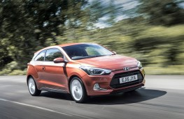Hyundai i20 Coupe, front, action