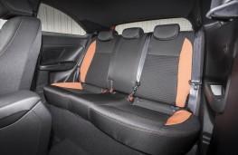 Hyundai i20 Coupe, rear seats