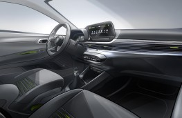 Hyundai i20, 2020, interior, sketch