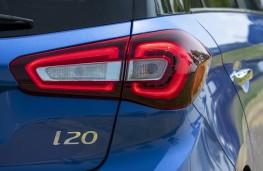 Hyundai i20, 2018, rear lights and badge