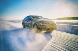BMW i4, testing, front, action