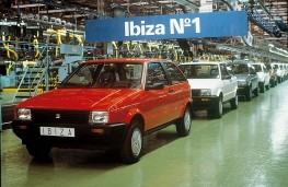 SEAT Ibiza, 1984, first model off the line