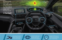 Peugeot driver eye testing, graphic