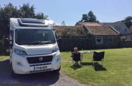 Swift Fiat Ducato motorhome, front, static
