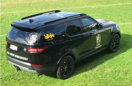 Land Rover Discovery, rear, Lions tour of New Zealand