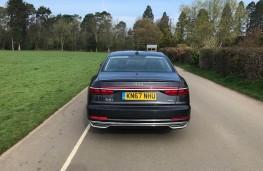 Audi A8L, rear