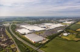 Nissan/Infiniti factory, Sunderland, aerial view