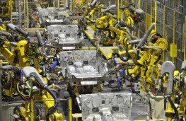 Infiniti production line, Sunderland, robots