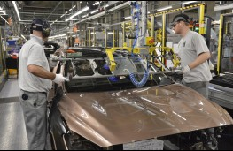 Infiniti production line, Sunderland, workers