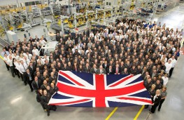 JLR workers at opening of new engine factory in Wolverhampton