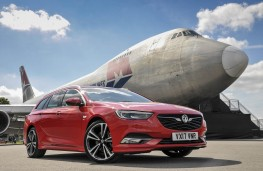 Vauxhall Insignia Sports Tourer, 2017, front, static with Boeing 747