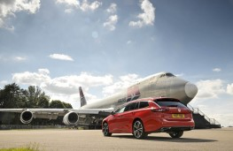 Vauxhall Insignia Sports Tourer, 2017, rear, static with Boeing 747