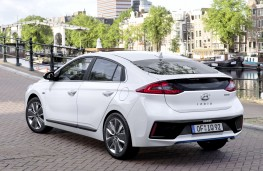 Hyundai Ioniq hybrid, rear, static