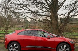 Jaguar I-PACE, 2018, side, upright