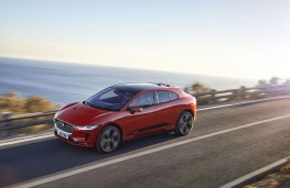 Jaguar I-PACE, 2018, side, action