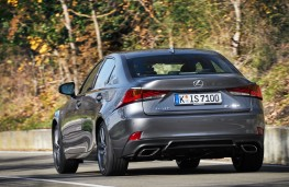 Lexus IS, 2017, rear, action