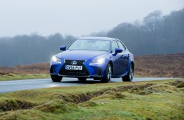 Lexus IS 300h, 2017, front, action