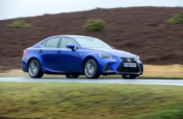 Lexus IS 300h, 2017, side, action