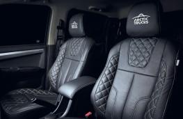 Isuzu D-Max Arctic Trucks Stealth leather seats