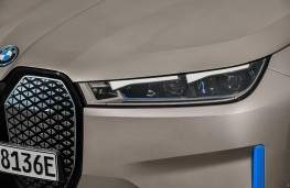 BMW iX, 2020, grille and headlights