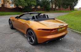Jaguar F-TYPE R-Design Convertible, rear profile