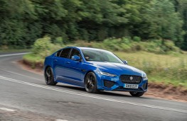 Jaguar XE, front action