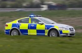 Jaguar XF, police, car, side