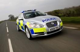 Jaguar XF, police, car, front