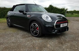 MINI John Cooper Works Convertible, side, roof up