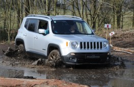 Jeep Renegade, in mud