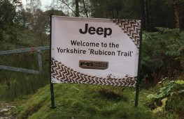 Jeep Renegade, 75th Anniversary, off road sign Yorkshire Rubicon Trail