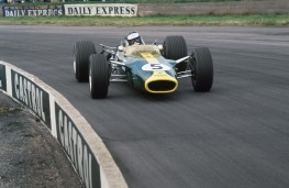 Jim Clark driving Lotus 25