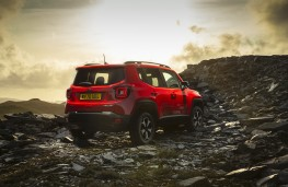 Jeep Renegade 4xe, 2020, off road, rear, static