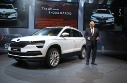 Skoda Karoq, 2017, world premiere with Bernhard Maier, Skoda chief executive