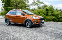 Ford Ka+ Active, 2018, side, action