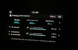 Kia e-Niro, 2018, EV display screen