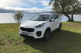 Kia Sportage, New Zealand drive, front, static