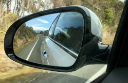 Kia Sportage, New Zealand drive, mirror