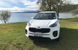 Kia Sportage, New Zealand drive, nose
