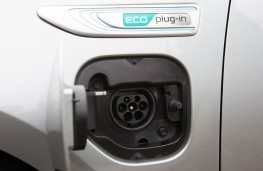 Kia Optima plug-in hybrid, charging socket