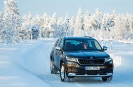 Skoda Kodiaq Scout, 2018, front, action, snow