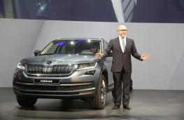 Skoda Kodiaq, world premiere, 2016, Bernhard Maier, Skoda chief executive