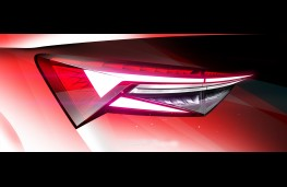 Skoda Kodiaq, 2021, rear lights sketch