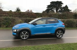 Hyundai Kona, 2018, side, road