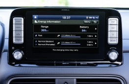 Hyundai Kona Electric, 2018, display screen