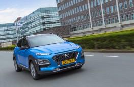 Hyundai Kona Hybrid, 2019, front, action