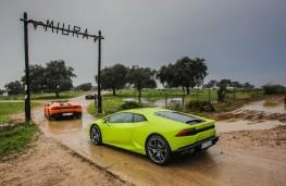 Lamborghini convoy arrives at Miura