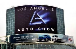 Los Angeles auto show 2016, sign
