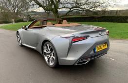 Lexus LC 500 Convertible, 2021, rear