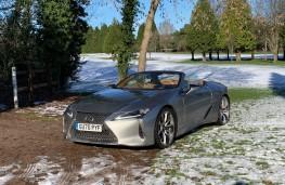 Lexus LC 500 Convertible, 2021, front, snow